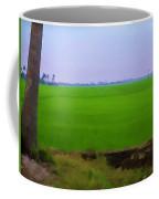Green Fields With Birds Coffee Mug