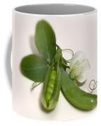 Green Peas In Pod With White Flower Coffee Mug