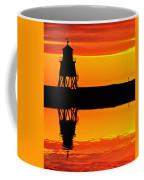Groyne Lighthouse At Sunrise Coffee Mug