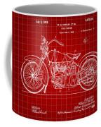 Harley Davidson Motorcycle Patent 1925 - Red Coffee Mug