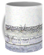 Helix Bridge And Road Bridge Next To Each Other In Singapore Coffee Mug