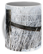 Hoar Frost On The Fence Coffee Mug