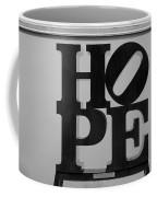 Hope In Black And White Coffee Mug