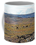 3 Horses At 4 Corners Coffee Mug