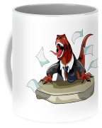Illustration Of A Tyrannosaurus Rex Coffee Mug by Stocktrek Images