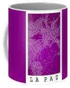 La Paz  Street Map - La Paz Bolivia Road Map Art On Colored Back Coffee Mug