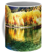 Lake Reflection In Fall Coffee Mug