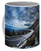 Linn Cove Viaduct During Winter Near Blowing Rock Nc Coffee Mug