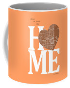 Miami Street Map Home Heart - Miami Florida Road Map In A Heart Coffee Mug