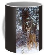 Mule Deer In Snow Coffee Mug
