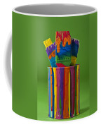 Multicolored Paint Can With Brushes Coffee Mug