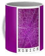 Munich Street Map - Munich Germany Road Map Art On Colored Backg Coffee Mug