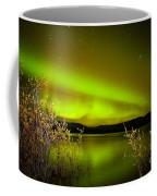 Northern Lights Mirrored On Lake Coffee Mug