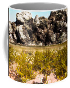 Over-under Split Shot Of Clear Water In Tidal Pool Coffee Mug