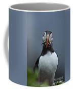 Puffin With Fish Coffee Mug