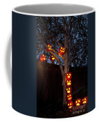 Pumpkin Escape Over Fence Coffee Mug