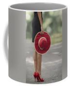 Red Sun Hat Coffee Mug