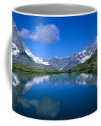 Reflection Of Mountains In Water Coffee Mug
