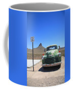 Route 66 - Old Green Chevy Coffee Mug