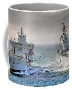 Royal Navy Aircraft Carrier Hms Ark Royal Conducts A Replenishment At Sea  Coffee Mug