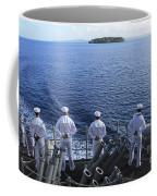 Sailors Man The Rails Aboard Coffee Mug