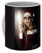 Smart Female Santa Claus With Christmas Idea Coffee Mug