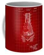 Space Capsule Patent 1959 - Red Coffee Mug