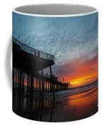 Sunset At Pismo Beach Pier Coffee Mug