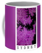 Sydney Street Map - Sydney Australia Road Map Art On Colored Bac Coffee Mug