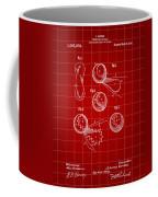 Tennis Ball Patent 1914 - Red Coffee Mug