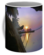 View Of Sunrise From Boat Coffee Mug