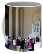Visitors At The Lincoln Memorial Coffee Mug
