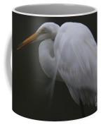 White Heron Portrait Coffee Mug