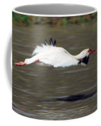 White Ibis In Flight Coffee Mug