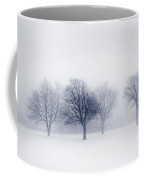 Winter Trees In Fog Coffee Mug by Elena Elisseeva
