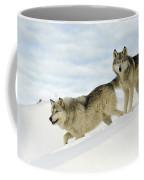Wolves In Winter Coffee Mug