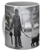 Woman With Her Dog Coffee Mug
