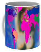 World Map And Aphrodite Coffee Mug