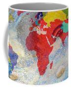 World Map And Barack Obama Stars Coffee Mug