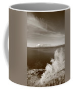 Yellowstone Lake And Geysers Coffee Mug