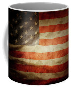 American Flag Rippled Coffee Mug