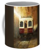 321 Antique Passenger Train Car Textured Coffee Mug
