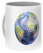 3d Rendering Of A Planet Earth Golf Coffee Mug