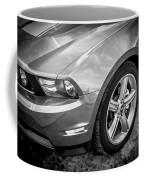 2010 Ford Mustang Convertible Bw Coffee Mug