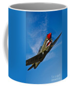 A Curtiss P-40e Warhawk In Flight Coffee Mug