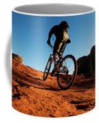A Middle Age Man Rides His Mountain Coffee Mug