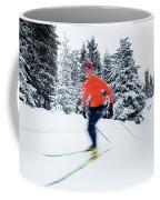 A Young Woman Cross-country Skiing Coffee Mug