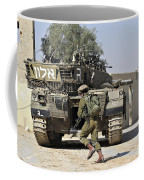 An Israel Defense Force Merkava Mark II Coffee Mug