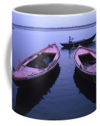 Boats On The Ganges River Coffee Mug