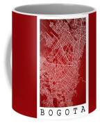 Bogota Street Map - Bogota Colombia Road Map Art On Colored Back Coffee Mug